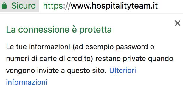 https, Protocollo HTTPS: perché è importante aggiornare subito il sito web, Hospitality Team, Hospitality Team