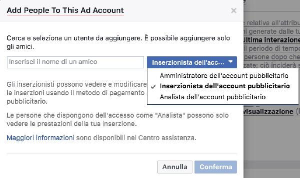 account pubblicitario, Account pubblicitario su Facebook, Hospitality Team, Hospitality Team