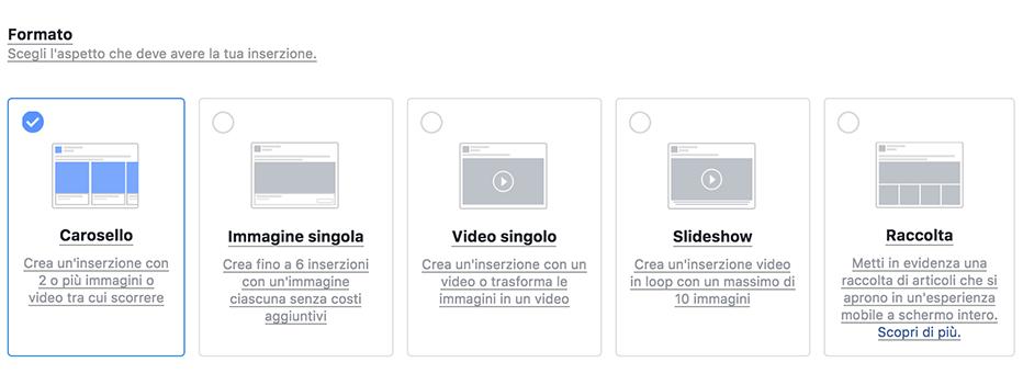 formato, Le soluzioni pubblicitarie su Facebook, Hospitality Team, Hospitality Team